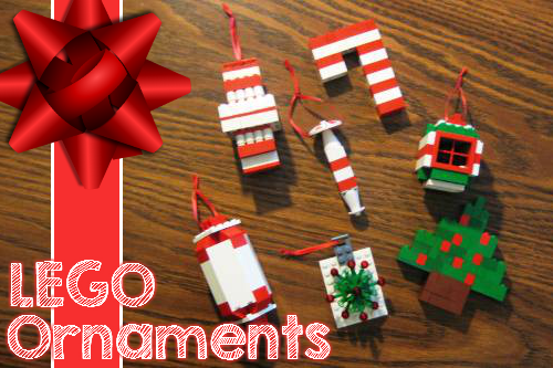Simple Lego Christmas Ornaments