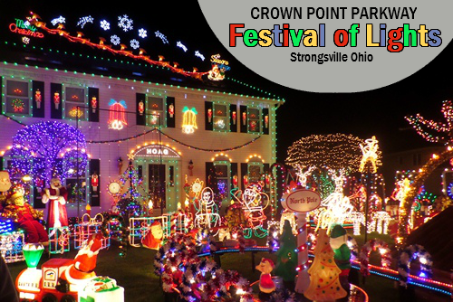 Crown Point Parkway Christmas Lights Strongsville Ohio