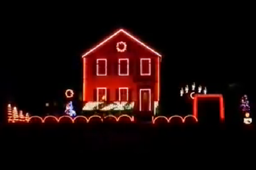 Musical Christmas Display in Conneaut Ohio
