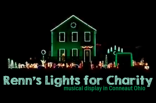 Renn's Lights for Charity – Musical Christmas Display in Conneaut