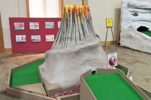 Volcano Minature Golf Hole Medina Ohio