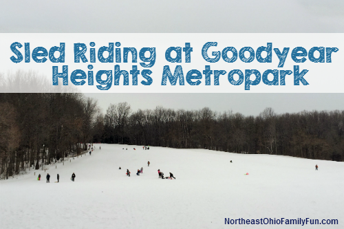 Sled Riding Goodyear Heights Metropark Akron Ohio