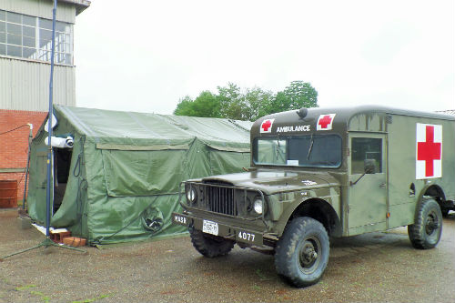 Military Medical Tent and Ambulance