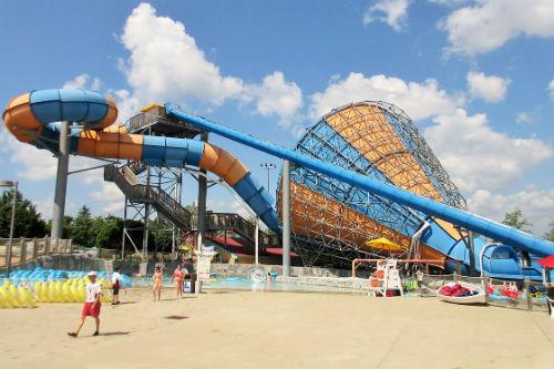 Family Water Slide Wildwater Kingdom Ohio