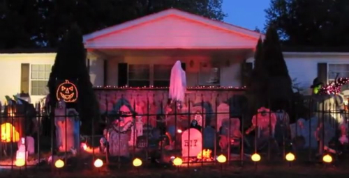 Halloween Display Painesville Ohio