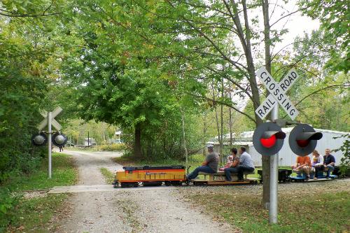 Train Crossing Lester Rail Trail Medina Ohio