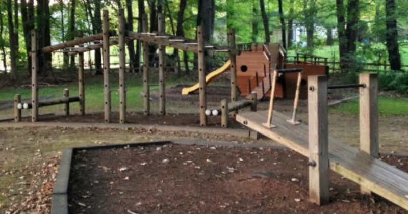 Wooden Playground at Uniontown Community Park