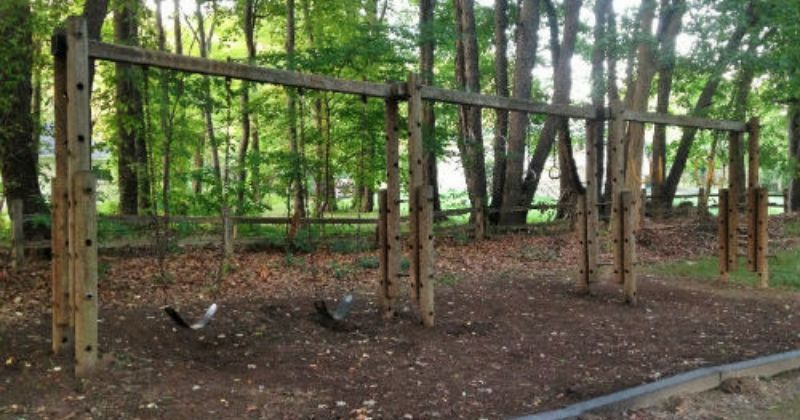 Wooden Swings at Uniontown Community Park