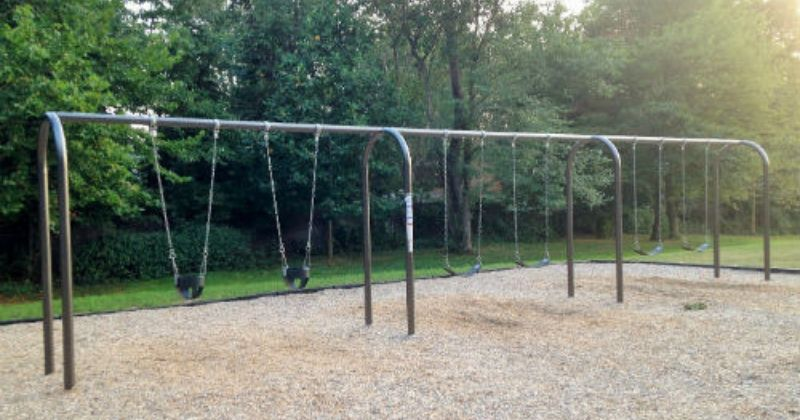 Regular and Infant Swings at Uniontown Community Park