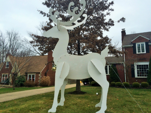 15 Foot Reindeer Christmas Display Canton Ohio