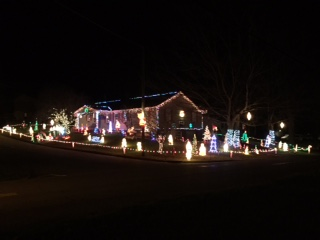 Christmas Lights in Gnadenhutten Ohio