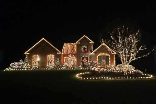 Gingerbread Christmas House Green Ohio - Best Local Christmas Light Displays - You Must See This Year!