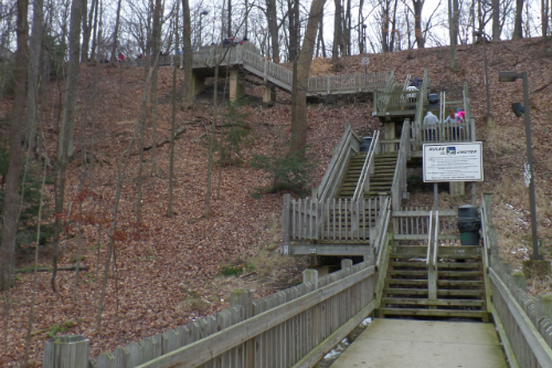 Line to the Tobboggan Chutes
