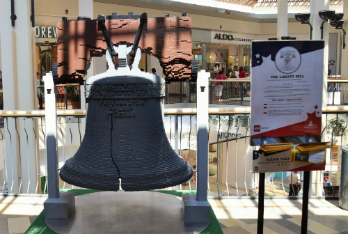 Life Size Liberty Bell made out of LEGOs