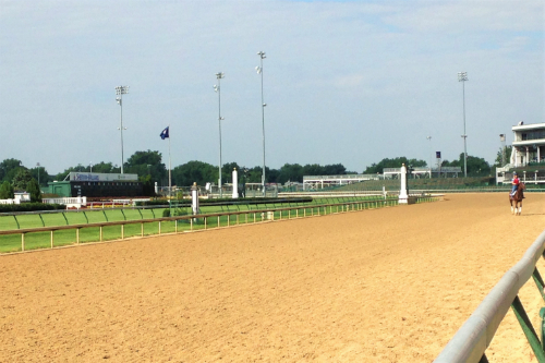 Horse track at Churchill Downs Kentucky Derby