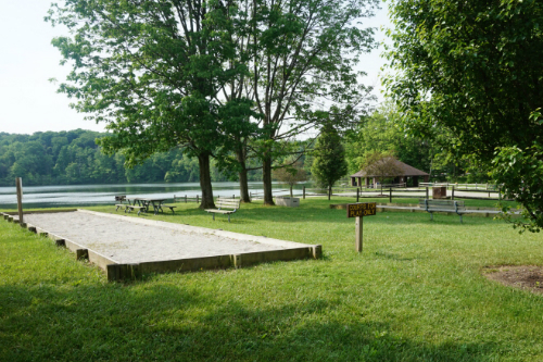 Hudson Springs Park Bocce Ball and Pavilion
