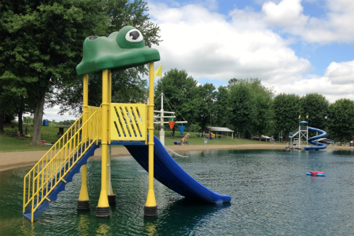 Kiddie Slide in the Lake at Baylor Beach Park