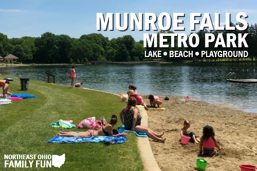 Lake and Beach at Munroe Falls Metro Park