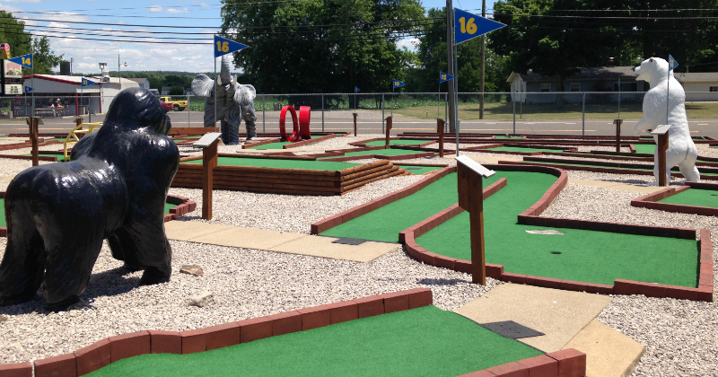 Mini Golf at Baylor Beach Park Canton Ohio
