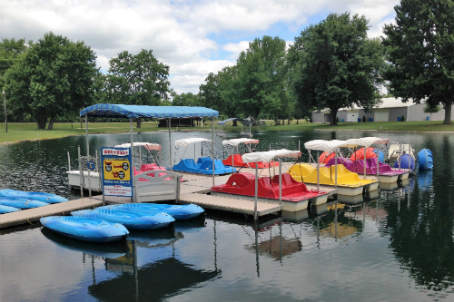 Paddle Boats and Funyaks Rental at Baylor Beach Park