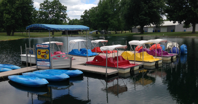 Paddle Boats at Baylor Beach Park
