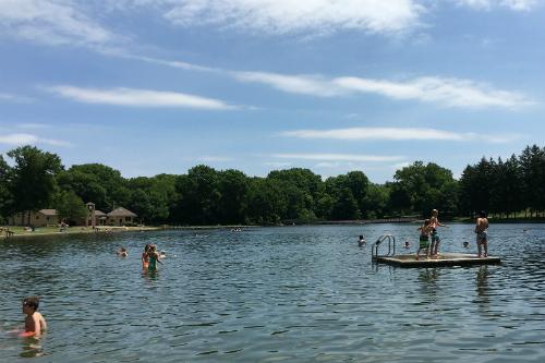 Swimming at Munroe Falls Metropark Lake