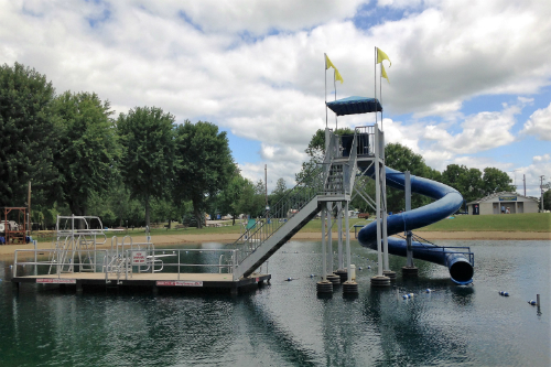 Water slide at Baylor Beach Park