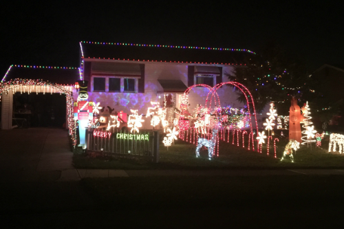 Musical Christmas Light Display Brookpark Ohio
