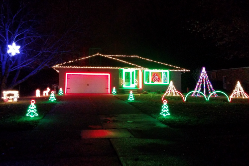 Musical Christmas Lights Highland Heights Ohio