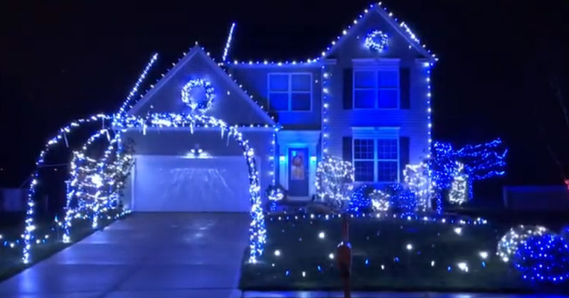 This beautiful blue and white display is located in Wadsworth and is the  creation of Jeff Young. I had the opportunity to ask Jeff a few questions  about his ... - Young Family Ice House Christmas Display In Wadsworth