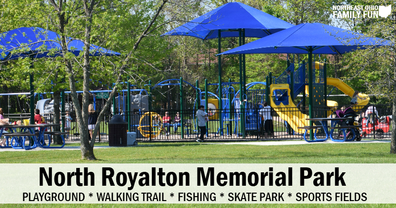 North Royalton Memorial Park – Playground, Trails, Fishing and More!