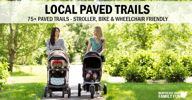 75+ Paved Trails in Northeast Ohio – Stroller, Bike & Wheelchair Friendly