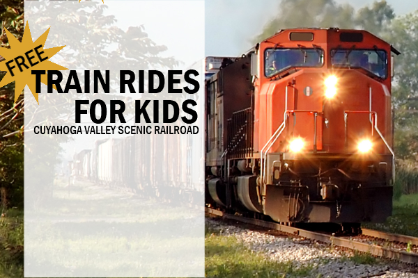 Free Train Rides for Kids Cuyahoga Valley Scenic Railroad Ohio