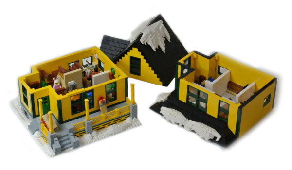 LEGO Christmas Story House Pieces