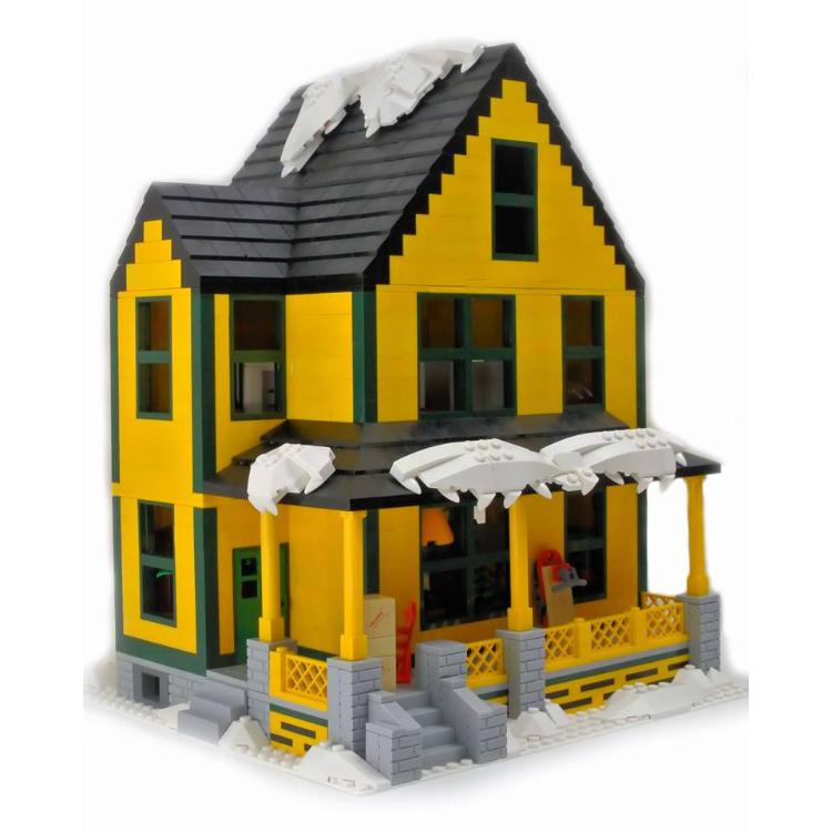A LEGO Christmas Story House!
