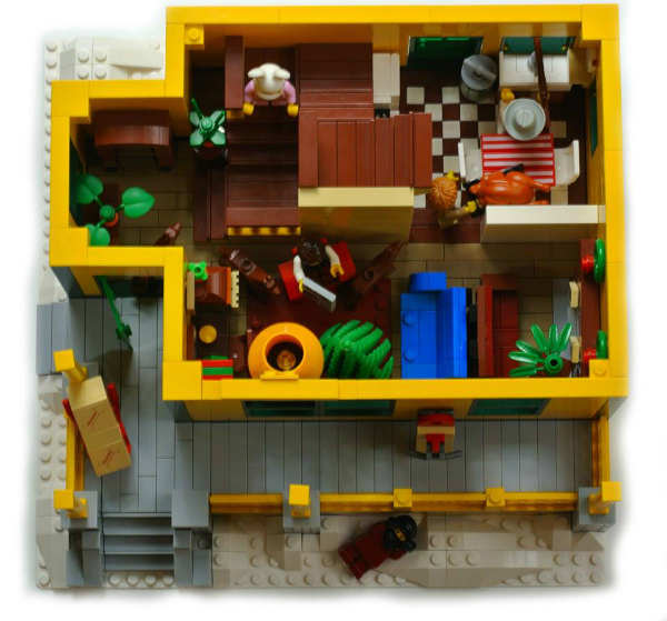 The Christmas Story House made out of LEGO