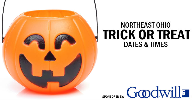 Trick or Treat 2018 – Dates, Times and Locations in Northeast Ohio