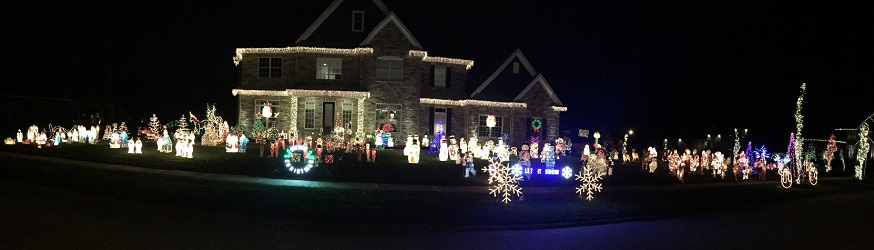 Domenick Family Light Display
