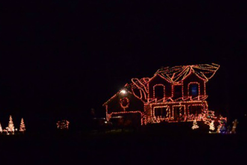 2017 update the display will be up for all to enjoy red christmas light bulb the gingerbread house
