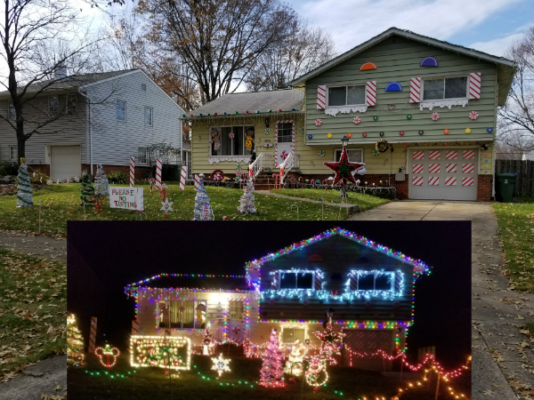 The One And Only Real Life Gingerbread House. With Candy Canes And Silver  Lanes To Glow 10,000 Lights Lighting The Way Straight To Your Tummys.
