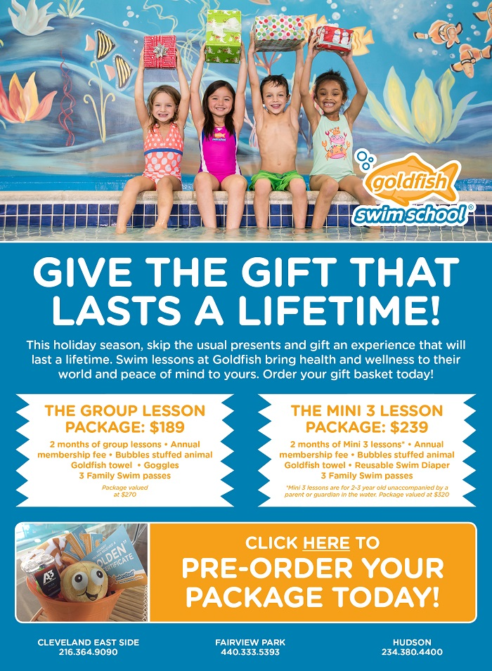 Holiday Packages at Goldfish Swim School