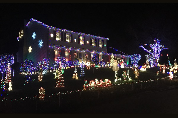 Huge Christmas Light Display Jackson Township Ohio