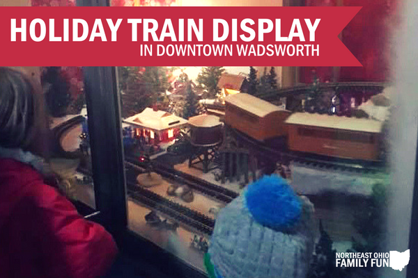 Downtown Wadsworth Holiday Train Display