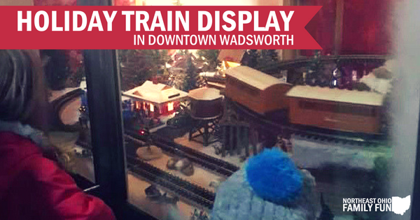 Downtown Wadsworth Window Train Display is Magical