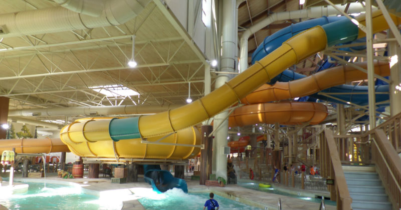Water Slides at Great Wolf Lodge Warren County Ohio