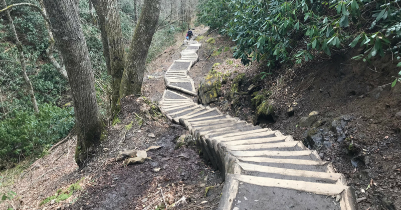 Chimney Tops Trail Stairs
