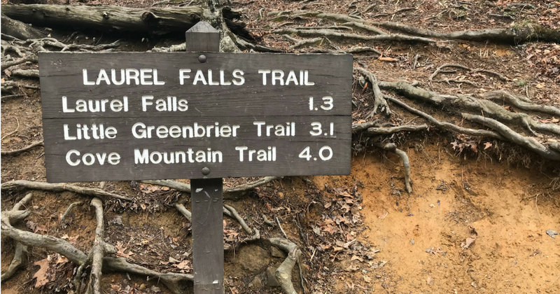 Laurel Falls Trail Head Sign