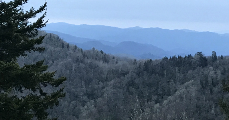 Newfound Gap Sunrise Smoky Mountains