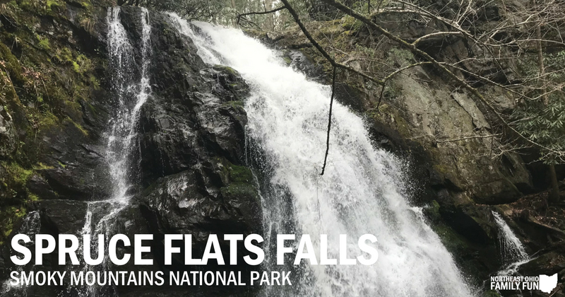 Spruce Flats Falls Trail in Smokey Mountains