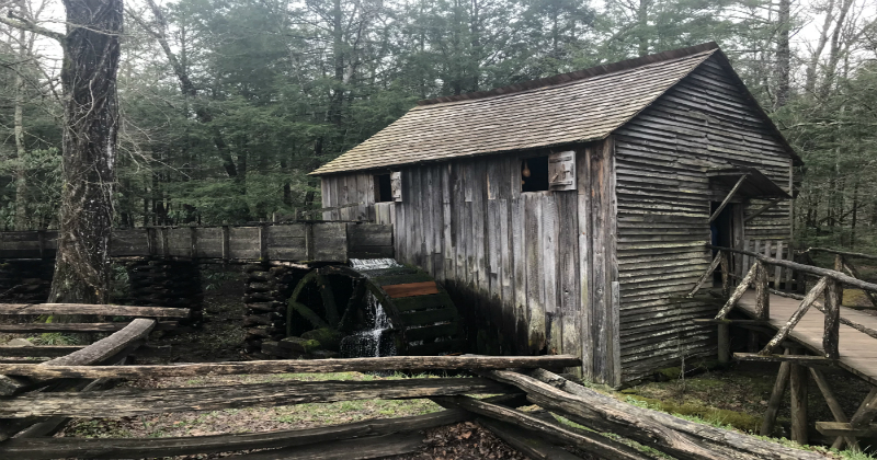 Working Historical Mill at Cades Cove Smoky Mountain National Park
